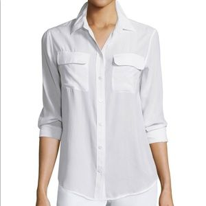 {Equipment} Sz S bright white slim signature shirt
